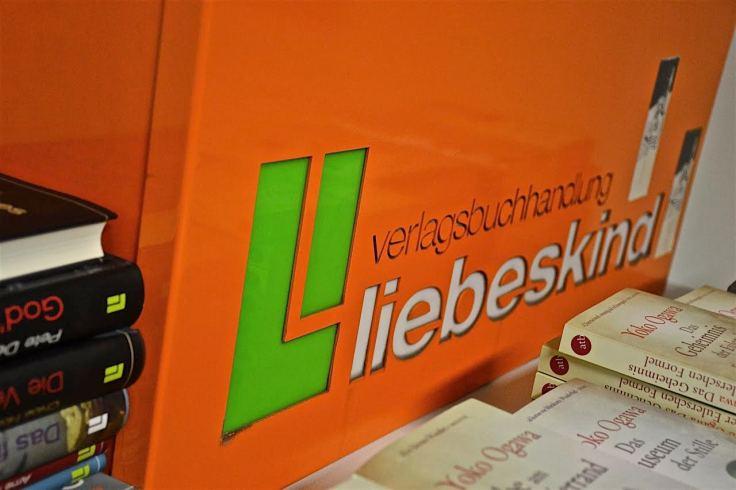 Schild Verlagsbuchhandlung Liebeskind