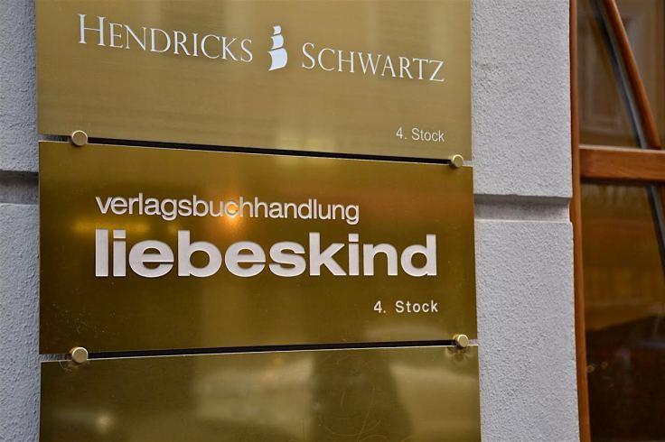 Tuerschild Liebeskind Verlag